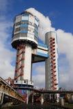 Torres para la producción del nitro del amonio Foto de archivo libre de regalías