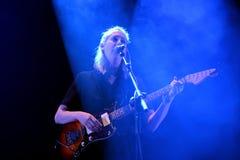 Torres que la banda del músico Mackenzie Scott se realiza en el sonido 2015 de Primavera Fotos de archivo