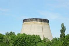 Torres refrigerando de água do central nuclear de Chernobyl Fotografia de Stock Royalty Free