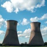 Torres refrigerando de central elétrica de Willington Fotografia de Stock