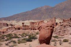 Torres rochosas - ravina dos colorados/escudos do Los - cafayate, Argentina foto de stock royalty free