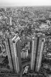 Torres sobre Tokio, la ciudad interminable Imagen de archivo libre de regalías