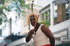 Torres Straße-Inselbewohner-Tänzer Stockbilder