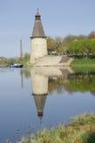 Torres viejas en Pskov Fotos de archivo libres de regalías
