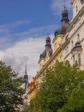 Torres y chapiteles de Praga imágenes de archivo libres de regalías
