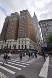 Torres y Empire State, NYC del Herald Fotografía de archivo