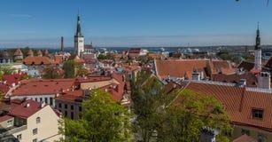 Torres y tejados de Tallinn vieja Fotografía de archivo