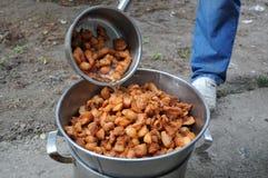 Torresmos da carne de porco Fotos de Stock Royalty Free