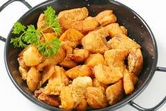 Torresmos fritados friáveis da carne de porco Imagens de Stock
