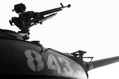 Torreta del tanque de T54B Fotos de archivo libres de regalías
