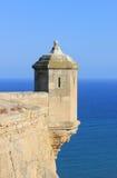 Torreta do castelo de Alicante Imagens de Stock Royalty Free