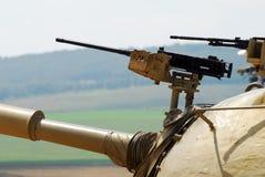 Torreta militar do tanque em Israel Fotos de Stock