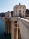 Torretas da represa de Hoover Foto de Stock Royalty Free