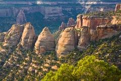 Torretas del monumento nacional de Colorado foto de archivo libre de regalías