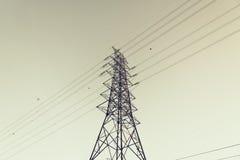 Torretta ad alta tensione Fotografie Stock Libere da Diritti