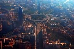 Torretta Agbar a Barcellona Fotografie Stock Libere da Diritti