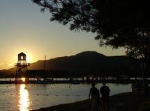 Torretta al tramonto Fotografie Stock Libere da Diritti