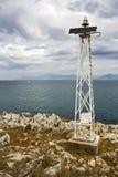 Torretta alimentata solare automatica del segnale della nave Immagine Stock