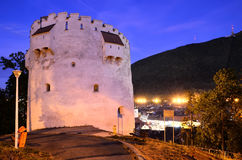 Torretta bianca, Brasov, Romania immagini stock