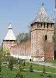 Torretta Bubleika della parete della fortezza di Smolensk Fotografia Stock Libera da Diritti