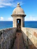Torretta a Castillo San Cristobal a San Juan, Porto Rico Fotografia Stock