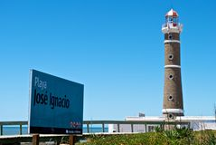 Torretta chiara di Playa José Ignazio fotografia stock libera da diritti