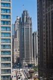 Torretta Chicago della tribuna Fotografie Stock Libere da Diritti