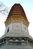 Torretta cinese in tempiale buddista Fotografie Stock
