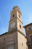 Torretta civica. Macerata. La Marche. Fotografie Stock Libere da Diritti