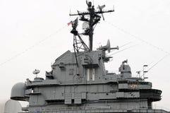 Torretta Conning intrepida della nave da guerra Immagini Stock