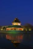 Torretta d'angolo del palazzo imperiale a Pechino Fotografia Stock Libera da Diritti
