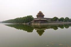Torretta d'angolo di nord-ovest della città severa, Pechino Immagini Stock