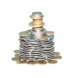 Torretta dalle monete Immagini Stock