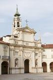 Torretta decorata di orologio e della facciata, Venaria Reale Immagini Stock