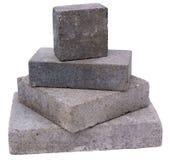 Torretta dei blocchetti concreti della costruzione Fotografia Stock Libera da Diritti