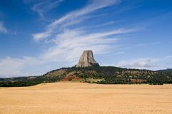 Torretta dei diavoli, Wyoming Fotografie Stock Libere da Diritti
