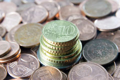 Torretta dei soldi - concetto della banca Immagini Stock