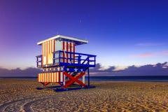 Torretta del bagnino del Miami Beach fotografia stock libera da diritti