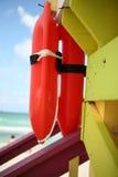 Torretta del bagnino in spiaggia del sud Immagini Stock