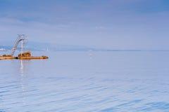 Torretta del bagnino sul mare adriatico Fotografia Stock Libera da Diritti