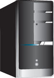 Torretta del calcolatore del PC su bianco Immagine Stock