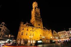 Torretta del campanile alla notte Fotografia Stock Libera da Diritti
