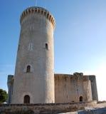 Torretta del castello di Bellver (Majorca) Fotografie Stock