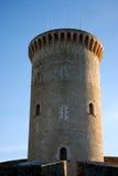 Torretta del castello di Bellver (Majorca) Fotografia Stock