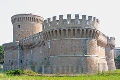 Torretta del castello di Giulius II in Ostia Immagini Stock