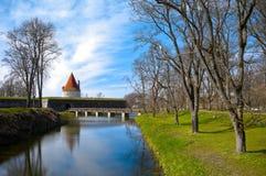 Torretta del castello di Kuressaare Fotografie Stock