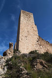 Torretta del castello di Miravet Fotografie Stock Libere da Diritti