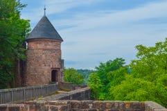 Torretta del castello di Nanstein Fotografia Stock Libera da Diritti