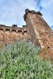 Torretta del castello in Montalcino Immagini Stock Libere da Diritti