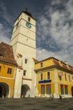 Torretta del Consiglio di Sibiu Fotografie Stock Libere da Diritti